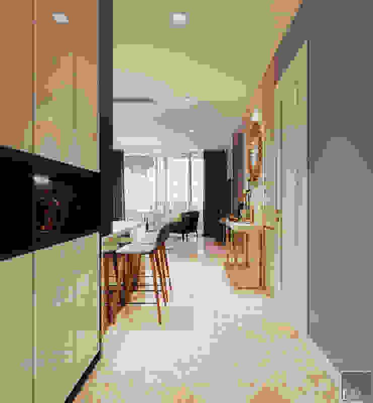 Sang trọng đẳng cấp với nội thất mạ Titan trong căn hộ Vinhomes Golden River bởi ICON INTERIOR Hiện đại