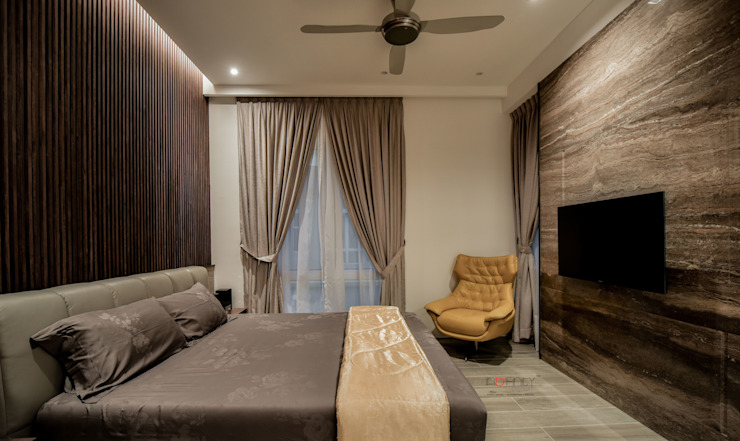 LUXURIOUS HOME Modern style bedroom by inDfinity Design (M) SDN BHD Modern Marble