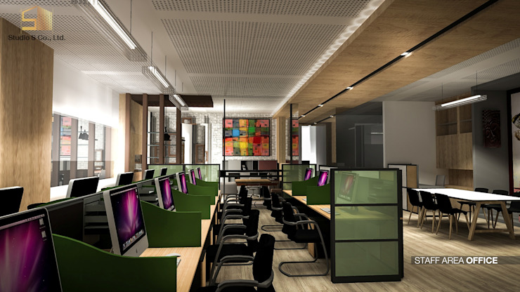 รูปตัวอย่างห้องทำงาน: ด้านอุตสาหกรรม  โดย สตูดิโอ เอส จำกัด, อินดัสเตรียล