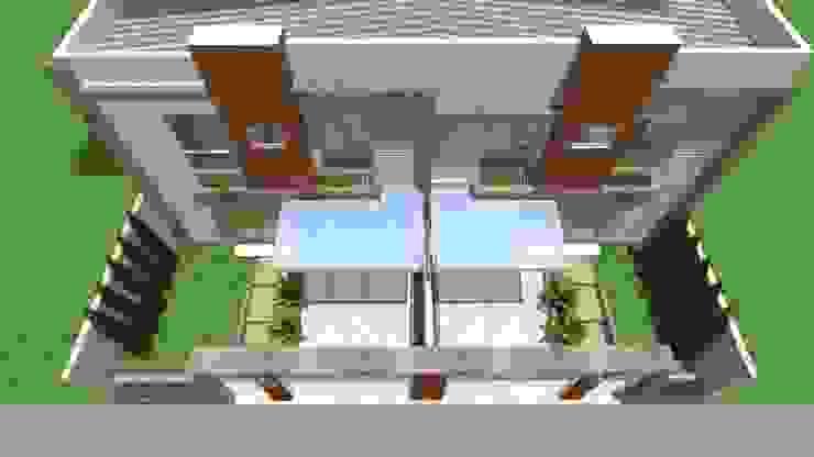 Residencial Multifamiliar 2 Unidades por MVK Arquitetura, Engenharia e Construções Moderno