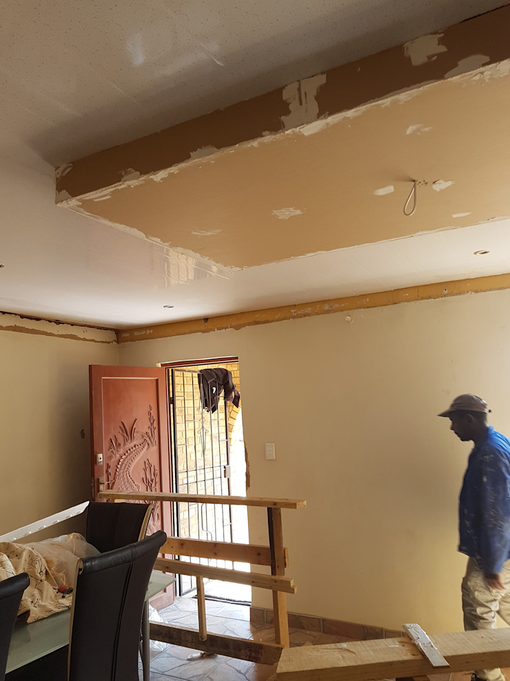 PVC Ceiling Instillation by Kgodisho Solutions and Projects Classic