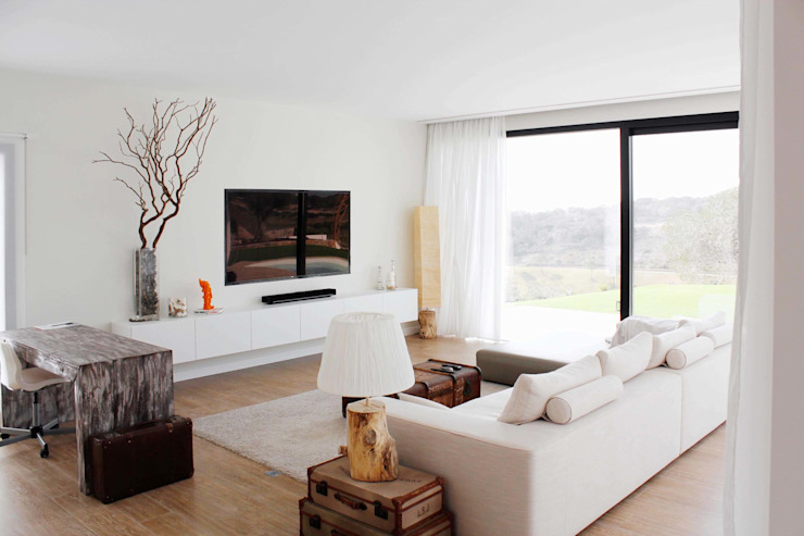 Casa Adelfa 14 2J Arquitectura Salones de estilo moderno