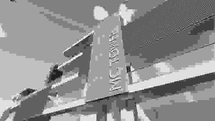 Detalles de fachada Estudios y despachos modernos de M+Z Arquitectos Moderno