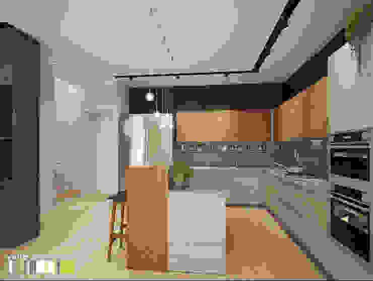 Cocinas de estilo minimalista de Мастерская интерьера Юлии Шевелевой Minimalista