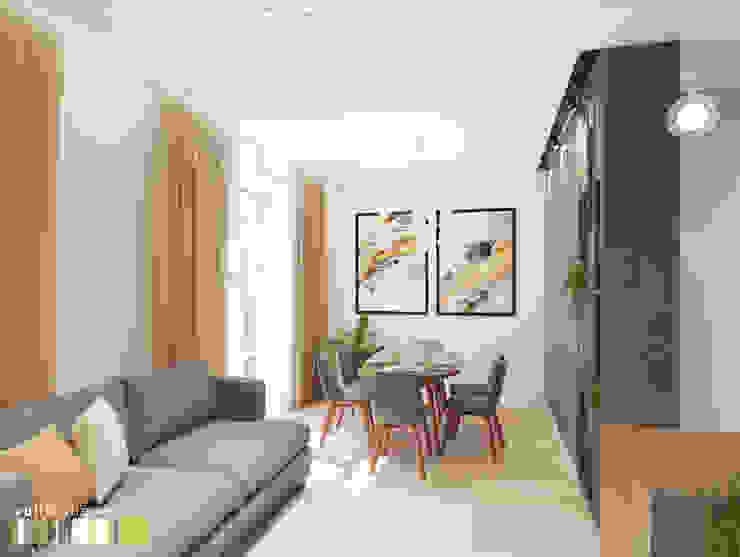 Salas de estilo minimalista de Мастерская интерьера Юлии Шевелевой Minimalista