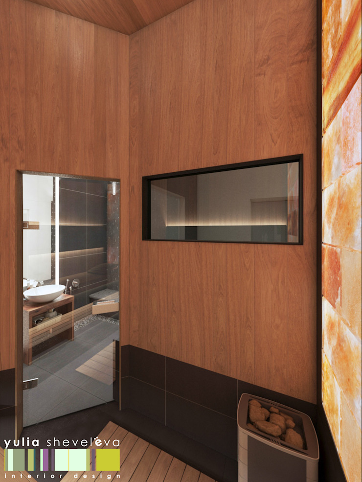 Spa minimalistas de Мастерская интерьера Юлии Шевелевой Minimalista