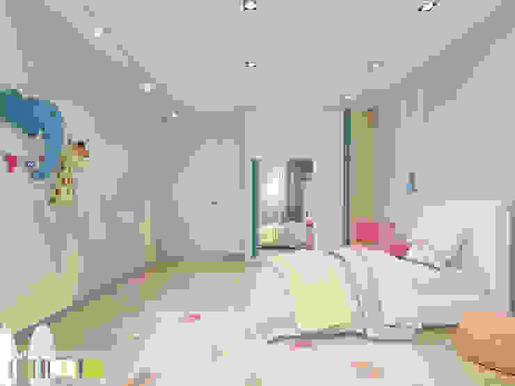 Cuartos infantiles de estilo minimalista de Мастерская интерьера Юлии Шевелевой Minimalista