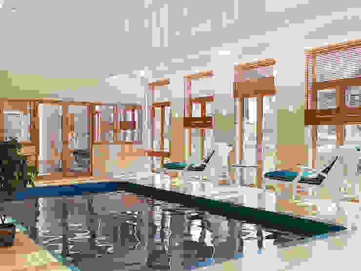Бассейн в частном доме Бассейн в стиле минимализм от студия Design3F Минимализм