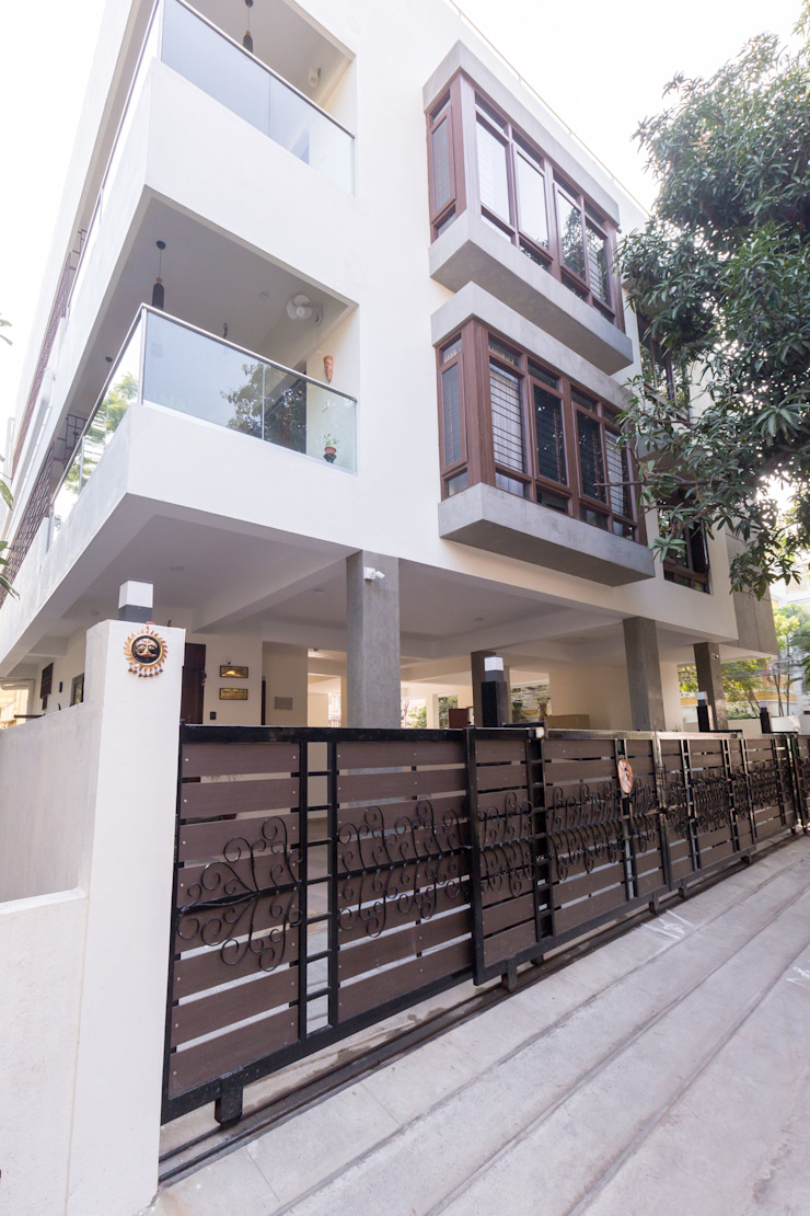 Apartment building- Architecture and Interior design Modern Houses by Synergy Architecture and Interiors Modern