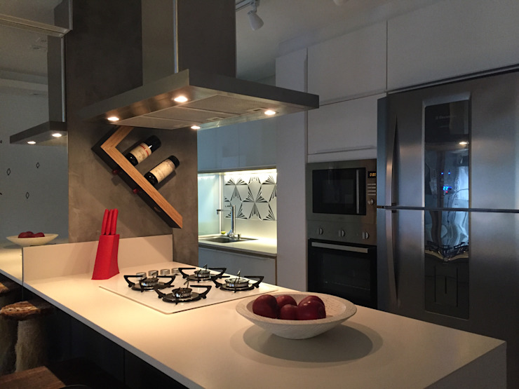 Apartamento DG Form Arquitetura e Design Armários de cozinha