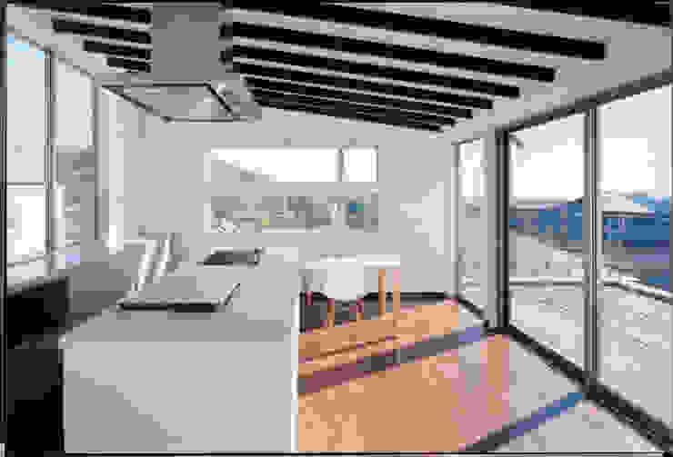 湘南の海を眺望し、本格的なオーディオルームを楽しむ モダンデザインの ダイニング の 豊田空間デザイン室 一級建築士事務所 モダン