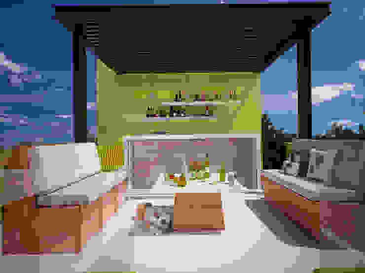 Bar Pangea Arquitectura & diseño Balcones y terrazas modernos