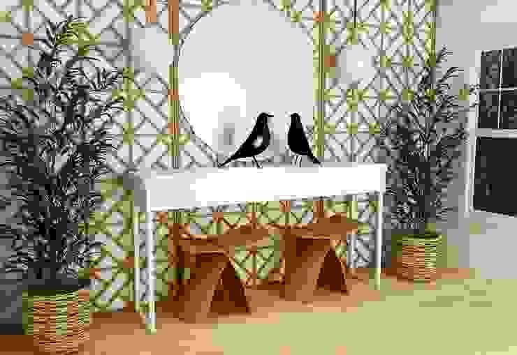 Eclectic corridor, hallway & stairs by Bis-bis Design Studio Eclectic