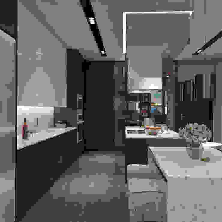 ANHSAO Showroom lighting Phòng ăn phong cách hiện đại bởi MEG Design Studio Hiện đại Đá hoa