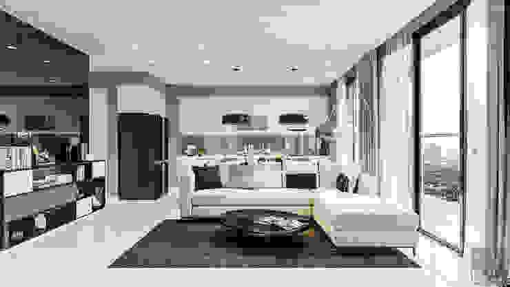 Salones de estilo moderno de ICON INTERIOR Moderno