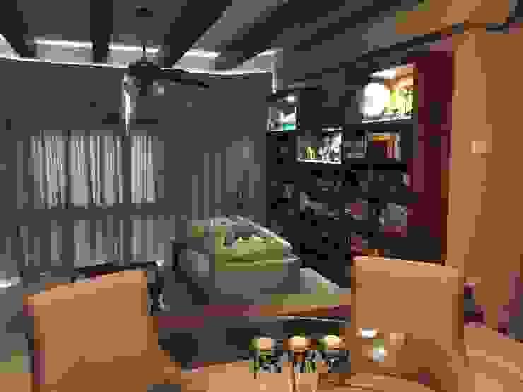 Mediterranean Living Mediterranean style living room by FINE ART LIVING PTE LTD Mediterranean Plywood