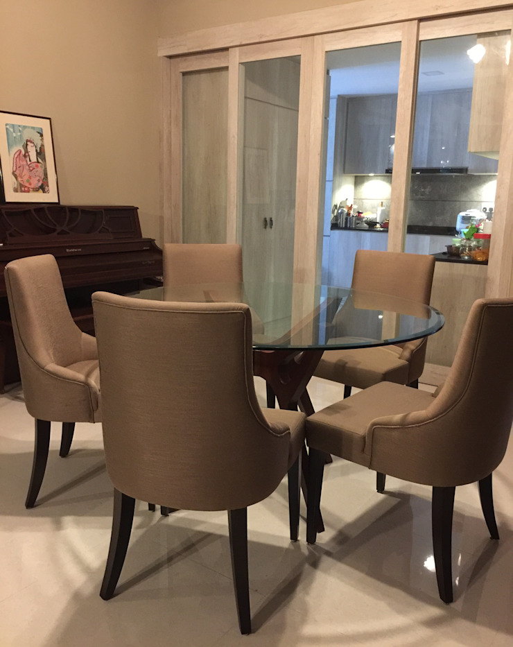 Dining Mediterranean style dining room by FINE ART LIVING PTE LTD Mediterranean Plywood