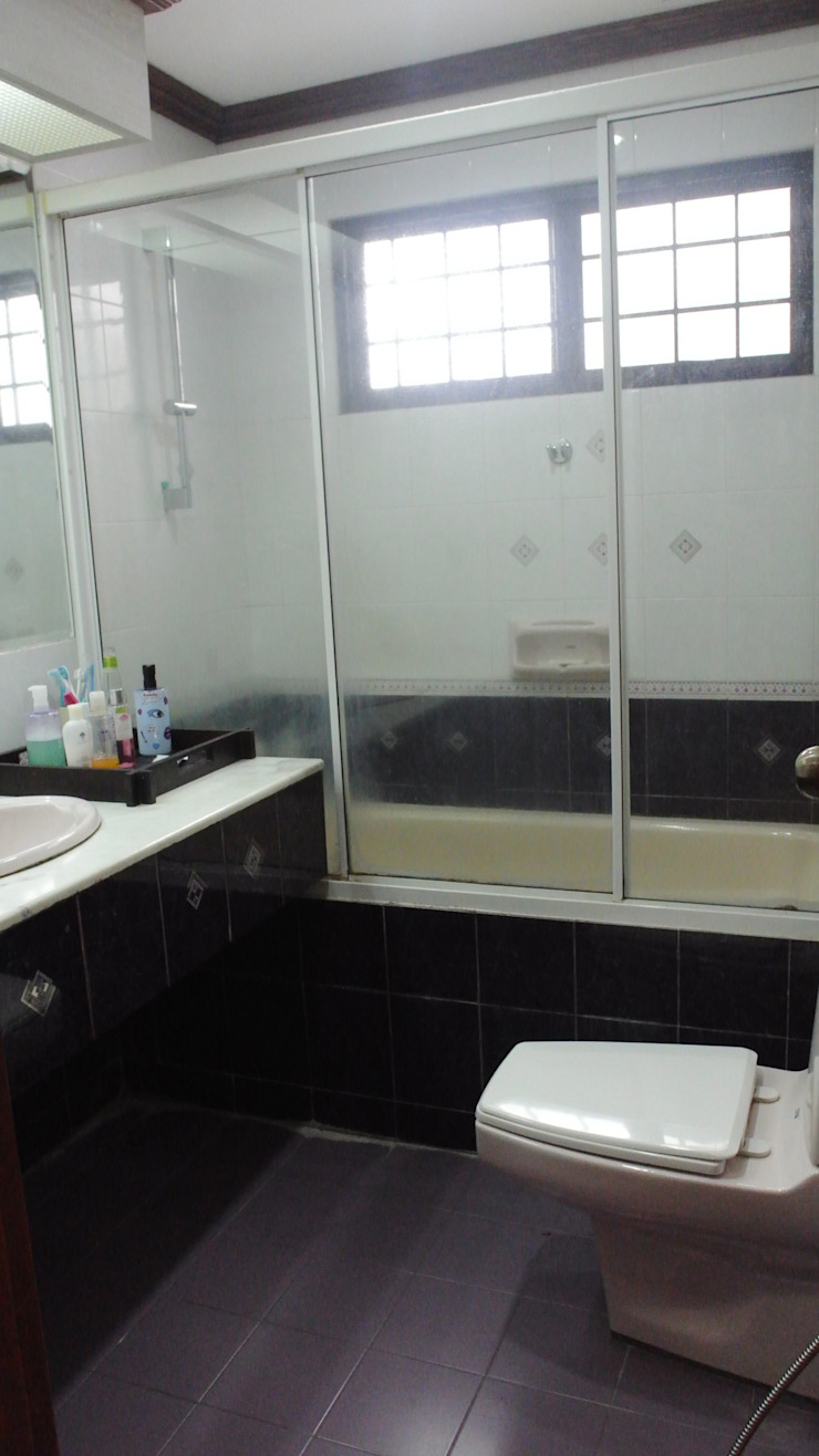 Before renovation of house Modern bathroom by FINE ART LIVING PTE LTD Modern