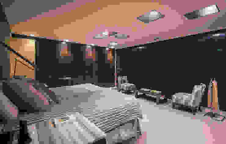 Dormitorio principal Paola Calzada Arquitectos Recámaras eclécticas Concreto Beige