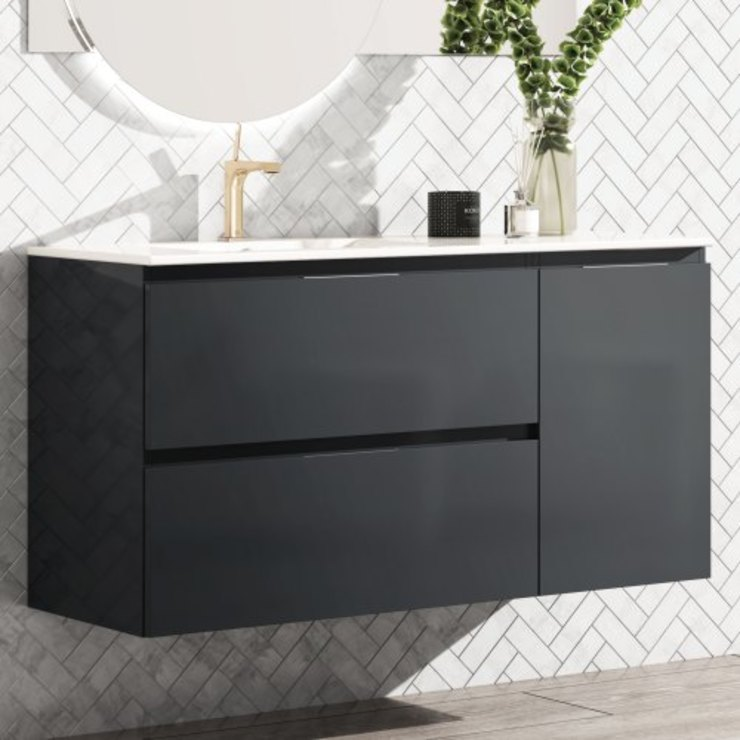 TheBathPoint BathroomStorage MDF Grey