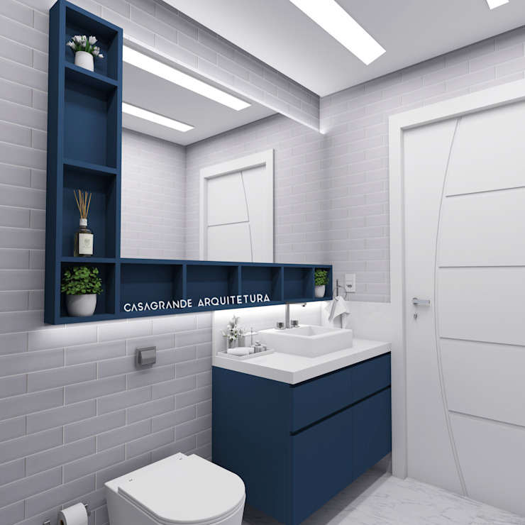 Modern bathroom by homify Modern Bricks