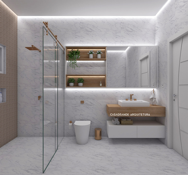 homify Classic style bathrooms Wood Wood effect