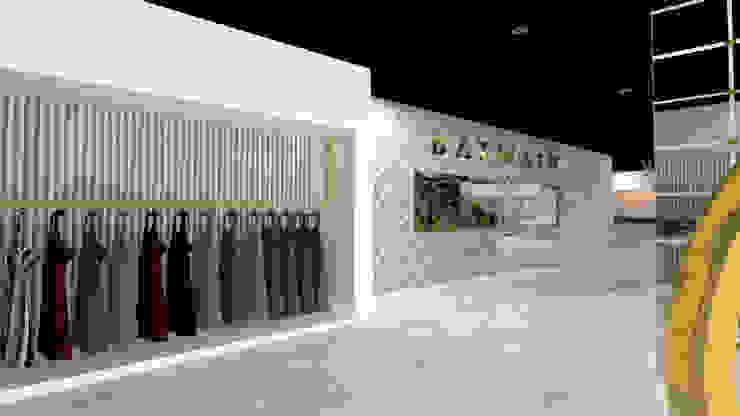 VISTA 1 Pasillos, vestíbulos y escaleras minimalistas de Karla Alvarez - Arquitectura de Interiores Minimalista