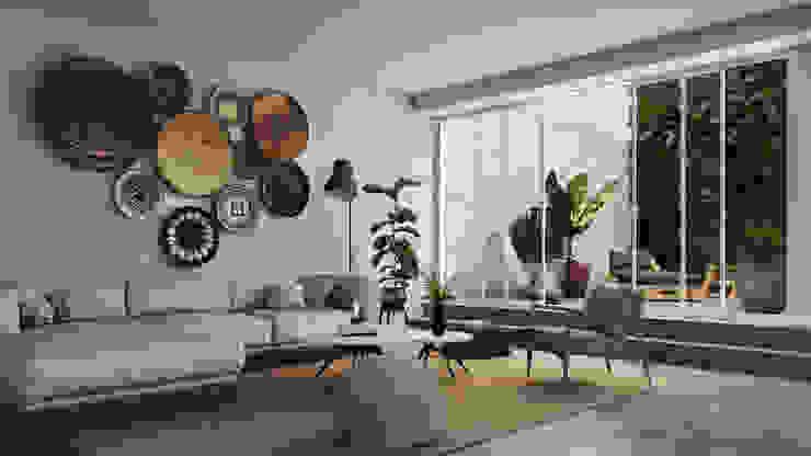 INTO Studio Salones de estilo tropical