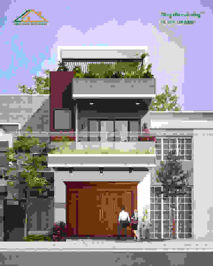 Nhà phố 2 tầng - CHú Hòa bởi Công ty CP kiến trúc và xây dựng Eco Home