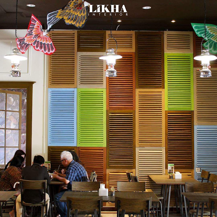 Likha Interior Gastronomie asiatique Contreplaqué Multicolore
