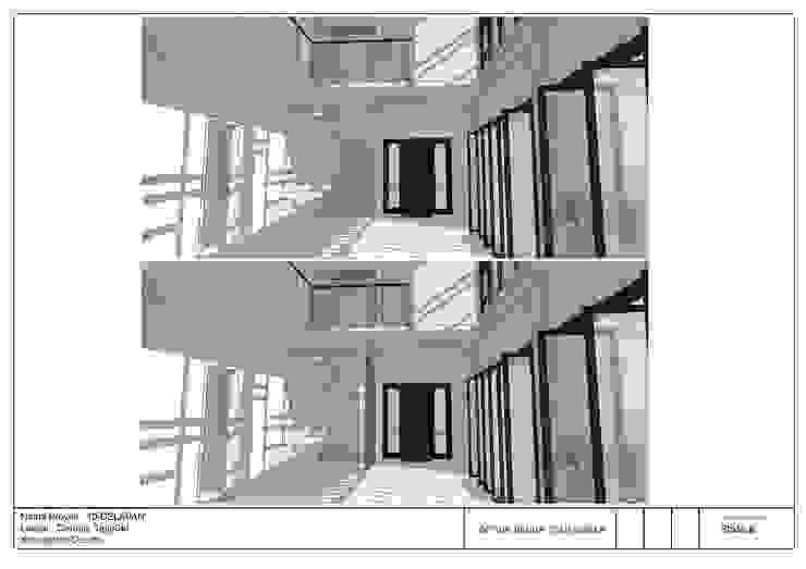 jaas.design Salones de estilo moderno Compuestos de madera y plástico Blanco
