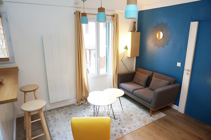 Studio Montmartre C'Design architectes d'intérieur Salon scandinave