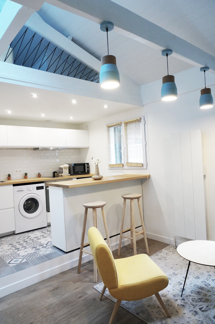 Studio Montmartre C'Design architectes d'intérieur Cuisine intégrée