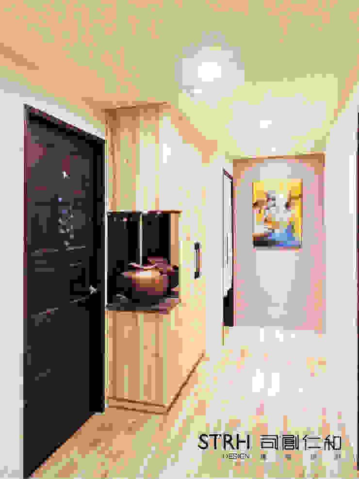 鄉林君悅陳公館 鄉村風格的走廊,走廊和樓梯 根據 司創仁和匯鉅設計有限公司 田園風