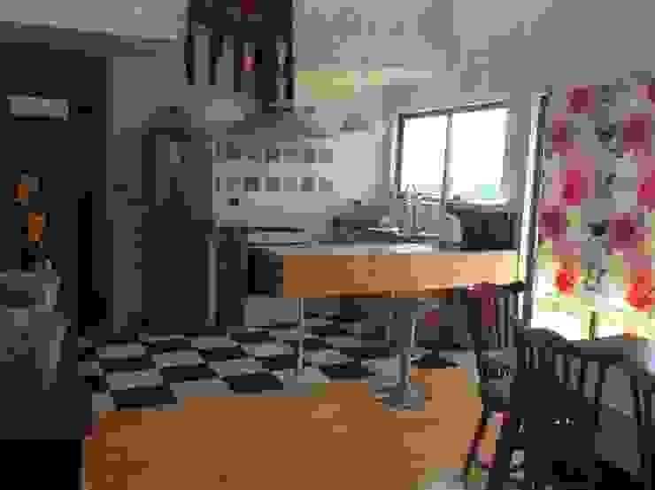 Cocinas rústicas de Casas del Girasol- arquitecto Viña del mar Valparaiso Santiago Rústico