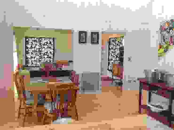 Comedores rústicos de Casas del Girasol- arquitecto Viña del mar Valparaiso Santiago Rústico