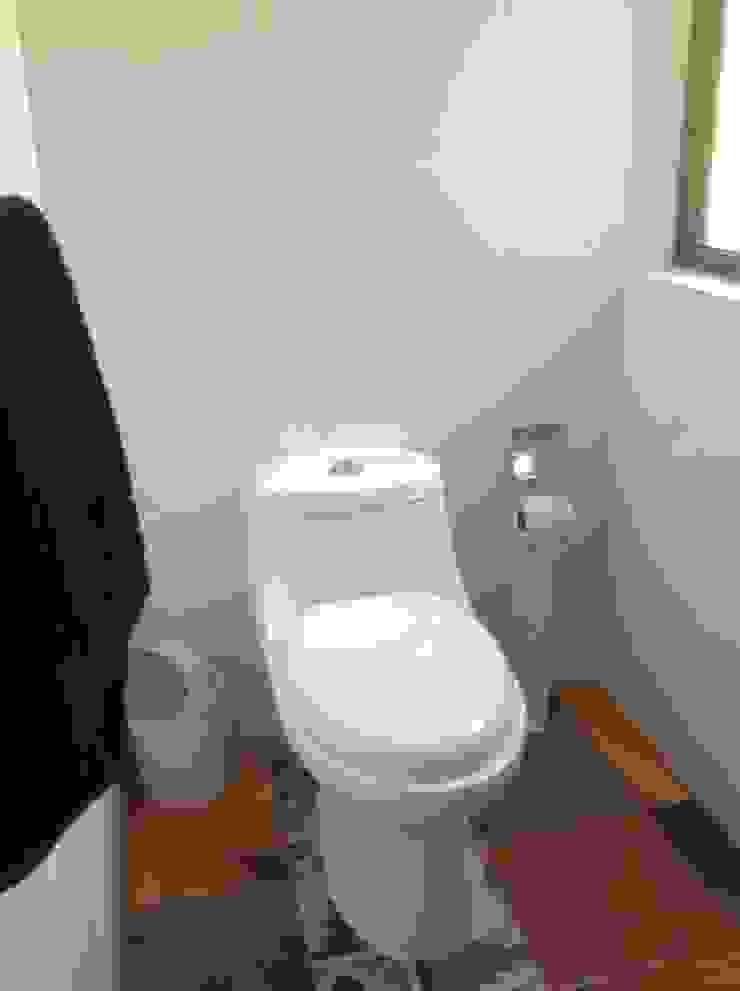 Baños rústicos de Casas del Girasol- arquitecto Viña del mar Valparaiso Santiago Rústico