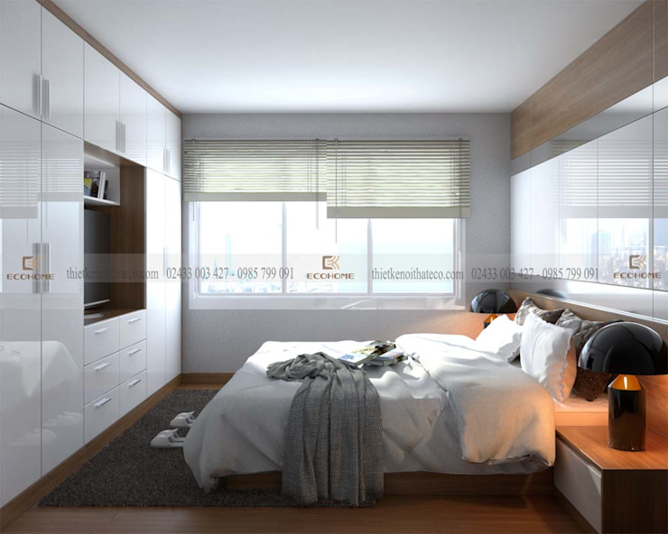 Phòng ngủ master Phòng ngủ phong cách hiện đại bởi homify Hiện đại