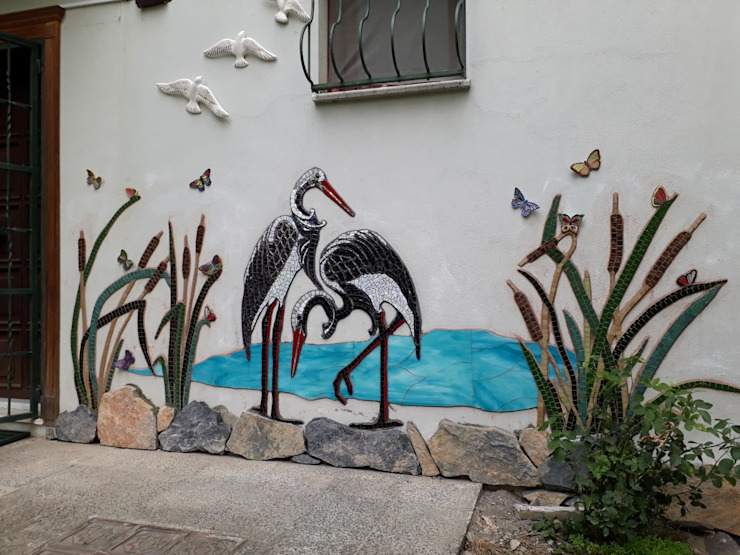 Mozaik Sanat Evi Garden Fencing & walls Tiles