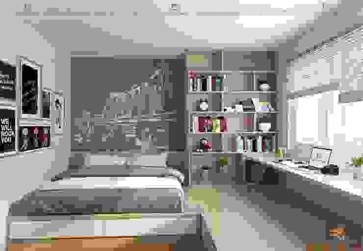 Phòng ngủ con 1 Phòng ngủ phong cách hiện đại bởi homify Hiện đại