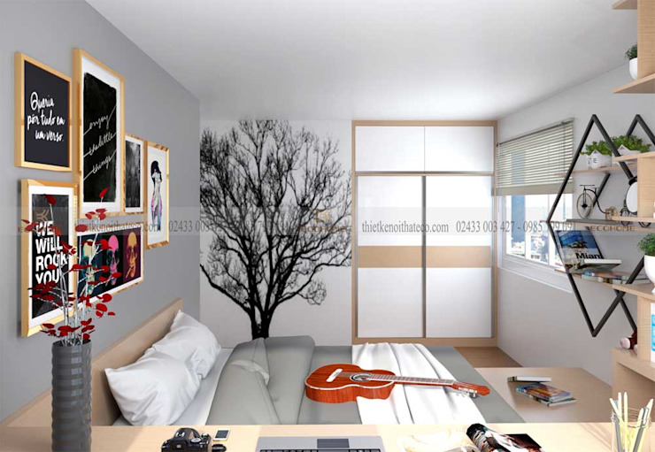 Phòng ngủ con 2 homify Phòng ngủ phong cách hiện đại