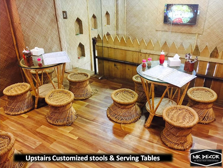Chaat On Khaat Fusion Cafe Designed by Team MK Decor by MK Decor Classic Bamboo Green