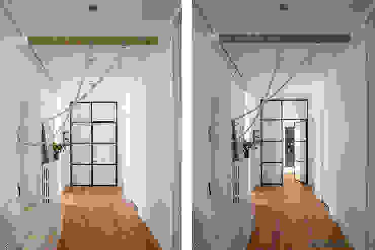 Couloir et verrière Couloir, entrée, escaliers scandinaves par SOHA CONCEPTION Scandinave Métal