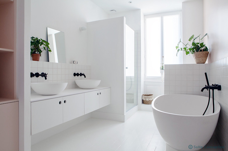Salle de bain des filles Salle de bain scandinave par SOHA CONCEPTION Scandinave