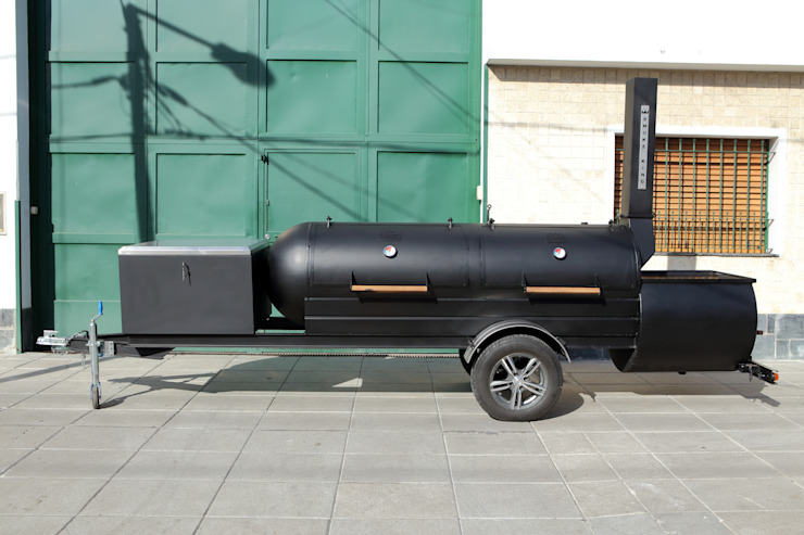 Ahumador de carne a la leña Pantera de Smoke King Ahumadoras Rústico Hierro/Acero