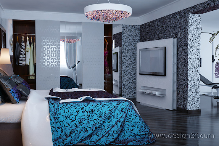 Дизайн современной спальни Спальня в стиле модерн от студия Design3F Модерн