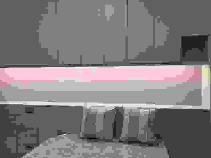 4F後女孩房床頭收納櫃 houseda Eclectic style bedroom MDF Purple/Violet