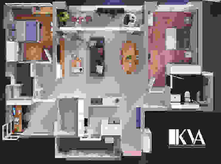 INTERIOR_APARTMENT ESTELLA: scandinavian  by KV Architecture, Bắc Âu
