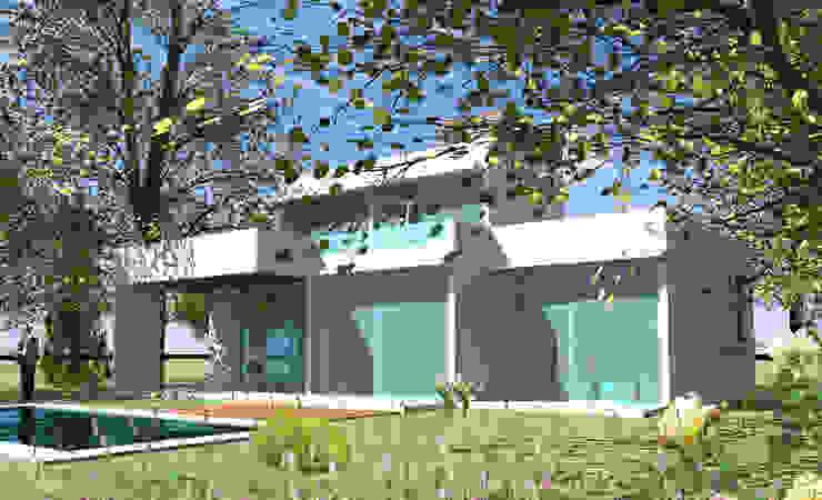 CASA TISI Casas de estilo mediterráneo de AOG Mediterráneo Ladrillos