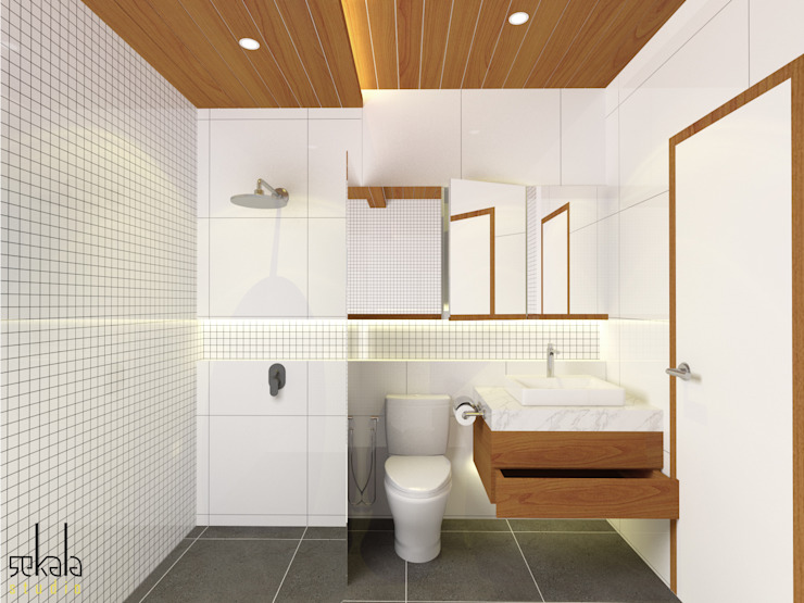 Modern bathroom by SEKALA Studio Modern Wood Wood effect
